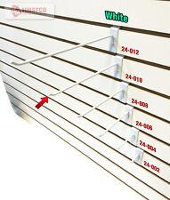 "10"" Slatwall Metal Hooks (24-010WH) - 100 Piece - White (NEW)"