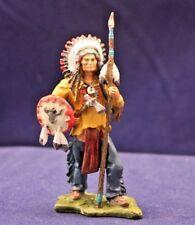 """Sitting Bull"", Hobby & Work**Zinn**handbemalt*unbespielt**"