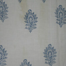 India Hand Block Print Cotton Voile Fabric 10 Yard Dress Making Floral Fabric