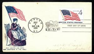 1959 US Flag Stamp 1179 FDC Civil War Patriotic Cover (A6176)