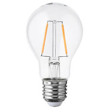 IKEA LUNNOM Clear Glass 100lm Warm White E27 Screw LED Filament Bulb