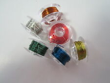 28 gauge Craft Copper Wire 6x 5mt Rolls Red, Gold, Silver, Green, Bronze, Blue
