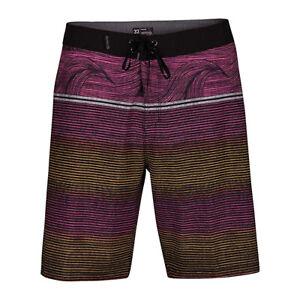 HURLEY Phantom Stretch Boardshorts Swimsuit Knee Length Swimwear Trunks 40 Black