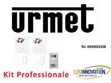 kit videocitofono urmet bifamiliare 2 famiglie urmet 1783/322 2 monitor a colori