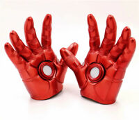 A Pair Avengers Endgame Gloves Iron Man Tony Stark Cosplay Prop LED Adult Gloves