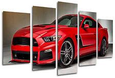 Quadri Moderno Fotografico Auto Mustang Rosso, 165 x 62 cm Rif. 26331