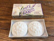 Lavender Sapone Athena's Italy Lavanda Soap Bars 2- 3.52 Oz Italian New Sealed