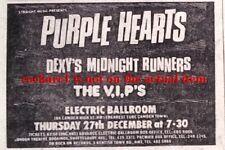 PURPLE HEARTS DEXY'S MIDNIGHT RUNNERS UK TIMELINE Advert - Dec-1979 2x3 inches