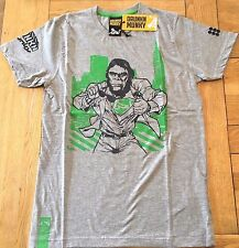 Men's BNWT grey marl DRUNKNMUNKY 'MUNKY HERO'  s/slv T, Size SMALL
