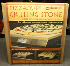 PIZZA STONE for BBQ 'PIZZAQUE' Charcoal Companion Thermometer New Opened 4 Pics