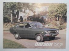 DATSUN 120Y orig 1976 1977 UK Mkt Sales Brochure - Sunny Saloon Coupe Estate