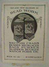 Vintage Antique Beaded Bag Purse Patterns Sophie La Croix Book 20 Victorian