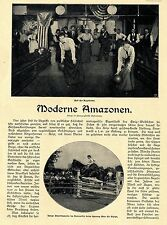 M. Oberberg Moderne Amazonen Amerikanischer Frauensport* Text/ Bilddokument 1902