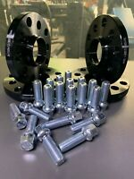Spacer+ Black Wheel Spacers VW 5x112 57.1 15mm bolt through with radius bolts