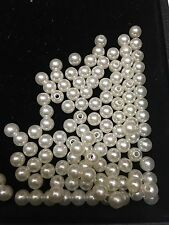 100pcs Pearl Beads 8mm Cream /Ivory Color Imitation Plastic Round Pearl Spacer