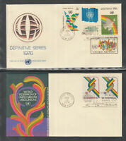 UN UNO Vereinte Nationen United Nations New York Jahrgang 1976 komplett auf FDC