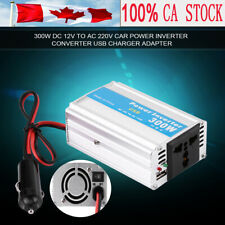 Silver 300W DC 12V to AC 110V Car Power Inverter Converter USB Charger Adapter