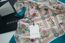 NEW AUTHENTIC GUCCI SILK SCARF  MADE IN ITALY    Woman Gift