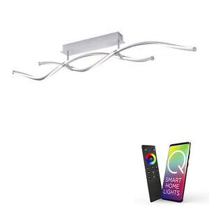 Paul Neuhaus Q-MALINA, LED-Deckenleuchte, Smart Home, dimmbar, Wellen Design CCT
