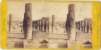 Pompei Italia Stereo Albumina Ca 1865