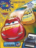 Disney Pixar Cars 3 - 500 Sticker Coloring Book For Children Boys Girls Kids