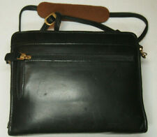 Franklin Covey Compact Black Nappa Leather 1 34 Ring Zip Binder W Strap