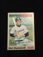 BOB ASPROMONTE 1970 TOPPS Autograph Signed AUTO Baseball Card 529 BRAVES
