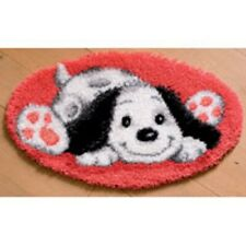 """Vervaco PLAYFUL PUPPY Shaped Latch Hook Rug Kit 28"""" x 16"""""""