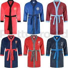 Mens Football Club Fleece Bathrobe Dressing Gown Official Nightwear Gift S-XL