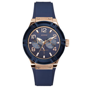 Guess Women's Analogue Quartz Watch With Silicone Strap W0571L1