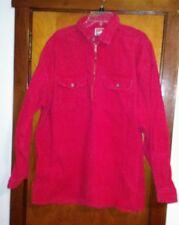 Vintage Marlboro Cigarettes Red Corduroy Half Zip Shirt XL