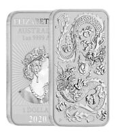 2020 AUSTRALIAN DRAGON BAR 1 oz .9999 Fine. PERTH MINT