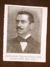 Ministro della Real Casa Alessandro Mattioli Pasqualini di Cingoli