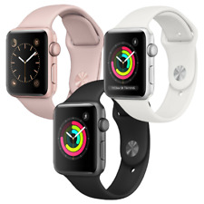 Reloj de Apple serie 3 38mm Gps De Aluminio SmartWatch-Gris Espacio Oro Plata