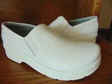 KLOGS NAPLES MEN'S WHITE LEATHER CLOGS NEW - SIZE 13W