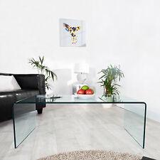 DESIGNER GLASCOUCHTISCH COUCHTISCH BEISTELLTISCH [MAYFAIR] GLAS 110cm, NEU!