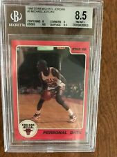 "1986 Star Basketball #9 Michael Jordan ""Personal Data"", Graded Beckett 8.5"