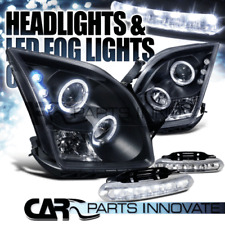 06-09 Ford Fusion Black Dual Halo Projector Headlights+6-LED Fog Lamps