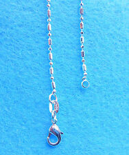 """1PC 24""""  Wholesale Fashion Jewelry 925 Silver Plated Column Ball Chain Necklace"""