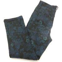 Gloria Vanderbilt 10P 10 Petite Amanda Jeans Blue Roses Floral Pants Stretch