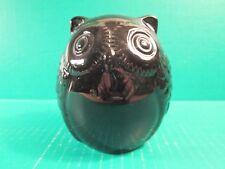 Ceramic Black Owl Coin Bank