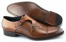 Men's TO BOOT NEW YORK 'Grant' Brown Monk Strap Leather Loafers Size US 12 - D
