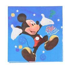 20 x Mickey Mouse Napkins Kids Happy Birthday Party