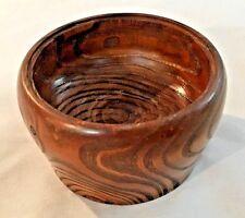 """Brown 3 1/2 X 2"""" Wood Carved Finger Bowl"""