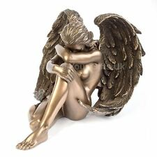 Angels Despair Bronzed Effect Figure Weeping Angel Wings 12cm High Nemesis Now