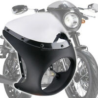 "Universel Moto Café Racer 7"" phare Carénage Pare-Brise Pour Harley Honda Suzuki"