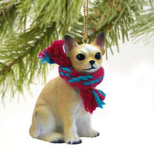 Chihuahua White and Tan Dog Tiny One Miniature Christmas Holiday ORNAMENT