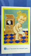 Vera Paterson Comic Postcard 1930s Vintage Radio Wireless Television Theme