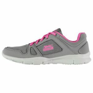 Slazenger Force Mesh Running Shoes Womens Grey Jogging Trainers Sneakers Fitness