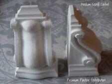 Plaster Corbels Scroll Medium (X2) 205mm x 105mm x 35mm